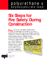 15 API Six Steps for Fire Safety During Construction