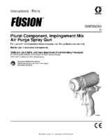 309550ZAG – Fusion Plural Component, Impingement Mix, Air Purge Spray Gun, Instructions-Parts, English