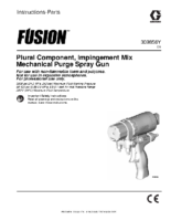 309856Y – Fusion Plural Component, Impingement Mix, Mechanical Purge Spray Gun, Instructions-Parts, English