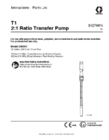 312766N – T1 Ratio Transfer Pump, Instructions-Parts, English