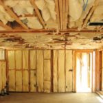 Interior wall spray foam insulation